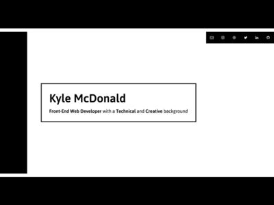 Personal Site Redesign white black minimalistic simple website