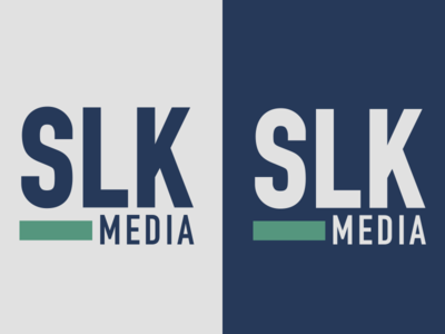 SLK Media simple bold type logo