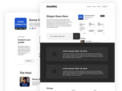 IronMic website marketing saas podcast