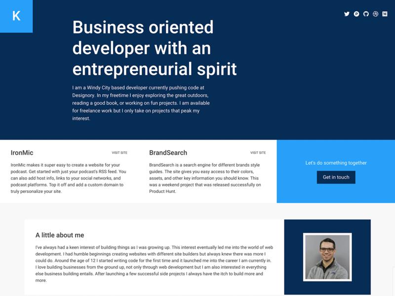 Personal Site Redesign code marketing branding personal website