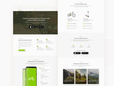 Kayuh Bike Website Concept program community bogor ux ui wordpress development wordpress design wordpress bicycling bicycle bikeshare website design kayuh landing page website