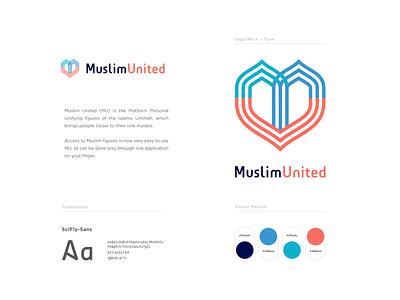 Muslim United (MU) Logo icon designer icon design iconography color application ummah mobileapp android muslim islam community logo icon