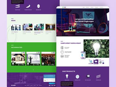 Ecolink Website Design web ui website concept product website ux ui website design lamp landing page web design website