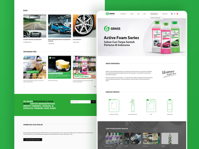GRASS Indonesia Website company website company profile car wash grass product page landing page website ux ui
