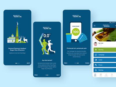 Bogor City of Runners App Concept bogor city branding runner app community city app running app runner running run app design ui ux