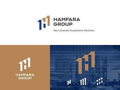 HAMFARA investment logo property agency simple logo creative logo corporate logo company logo branding brand muslim logo logo