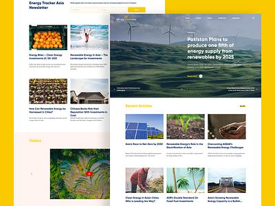 Energy Tracker Asia website development wordpress blog opinion news ux ui renewable energy gas coal landing page energy website website
