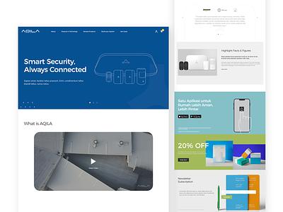 AQILA Landing Page gadget device interface design system e-commerce wordpress web development jakarta ux ui web design landing page security camera