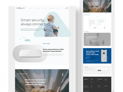 AQILA Landing Page Concept white minimalism clean web design product service ux ui cctv security smart smart security smart home landing page design landing page aqila