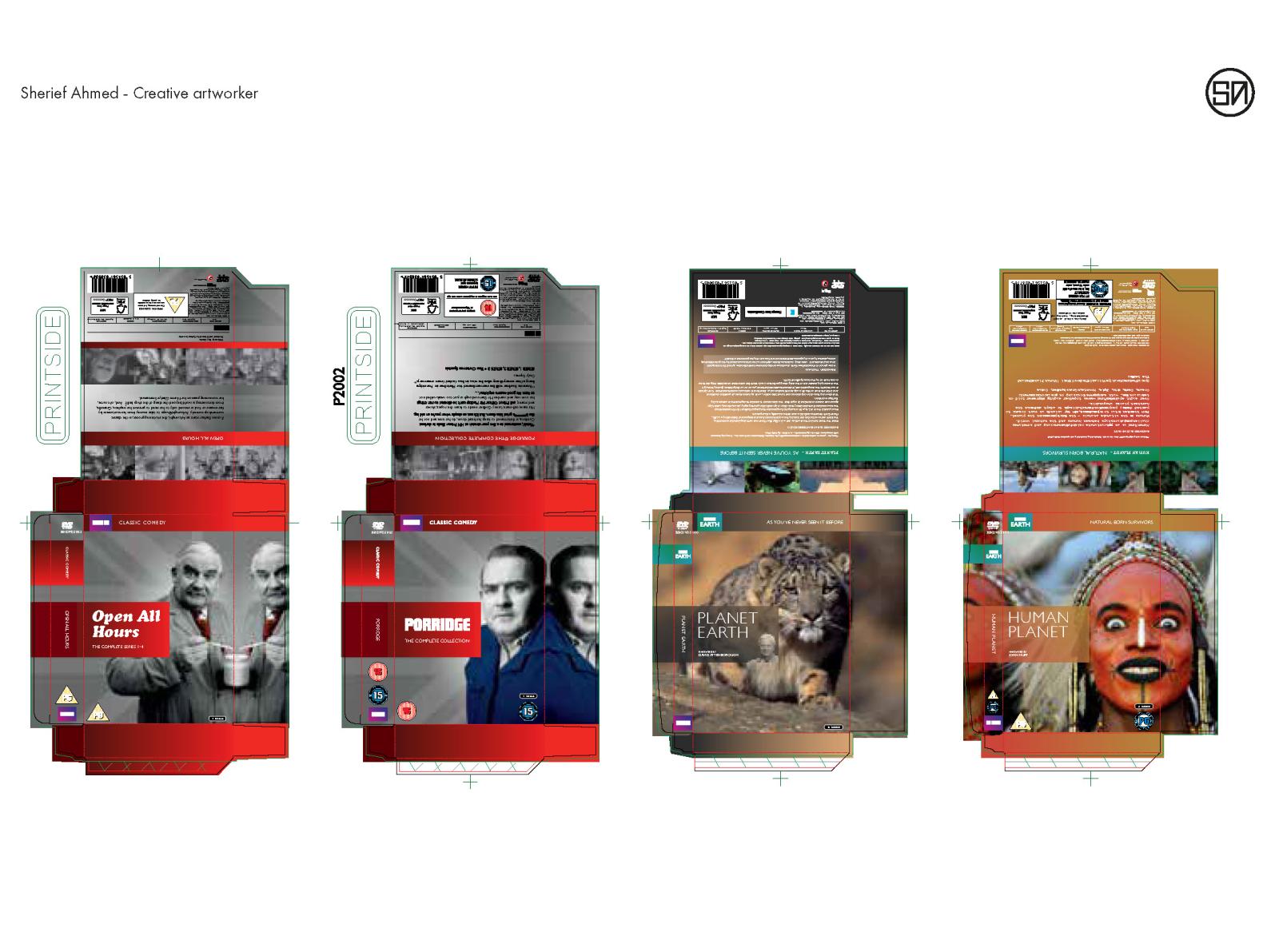 BBC DVD packaging artworking