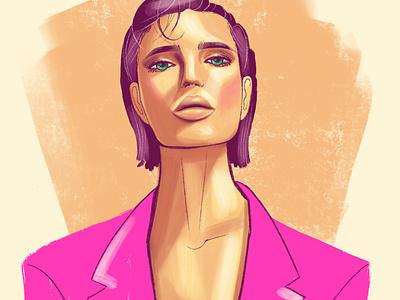 Portrait sketch/ Fashion illustration sketch fashion illustration procreate portrait illustration