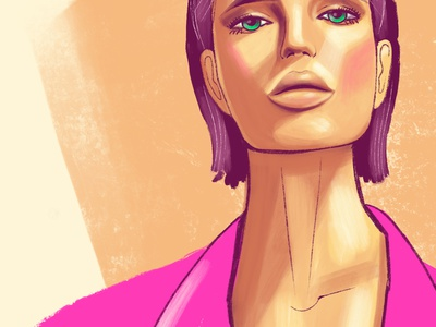 Portrait sketch/fashion illustration(zoom) sketch fashion illustration procreate portrait illustration