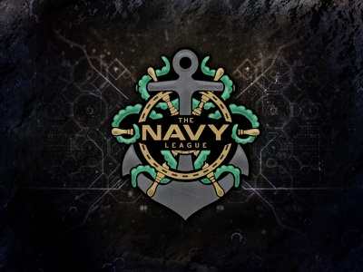The Navy League brand symmetry clean videogame anchor mark mlg illustration logo esport