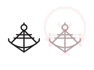 Anchor  - #ThirtyLogos thirtylogos sea sextant anchor design branding mark icon logo