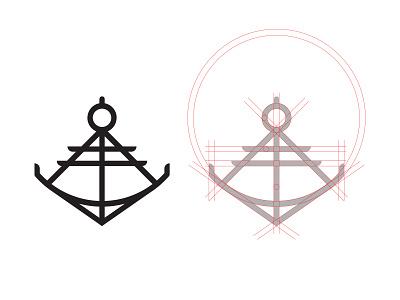 Anchor  - #ThirtyLogos thirtylogos sea sextant anchor design branding mark icon logo