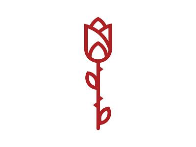 Rose illustration design rose flower mark icon logo