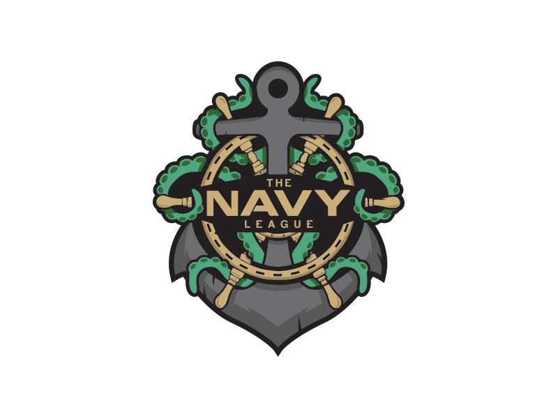 Navy League Esports Logo esl mlg anchor gaming esports design branding mark icon logo