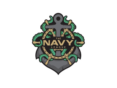 Navy League Esports Logo esl mlg anchor gaming esports design branding mark icon logo