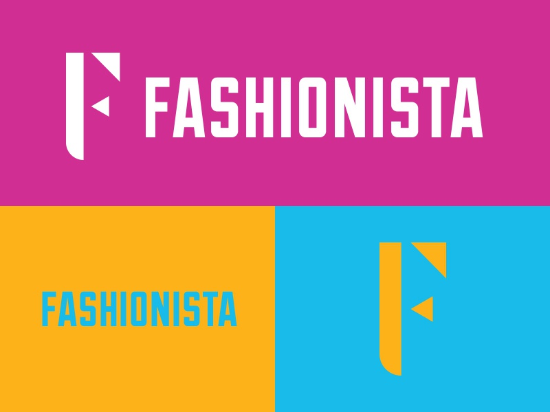 Fashionista - #ThirtyLogos f fashion design branding mark icon logo