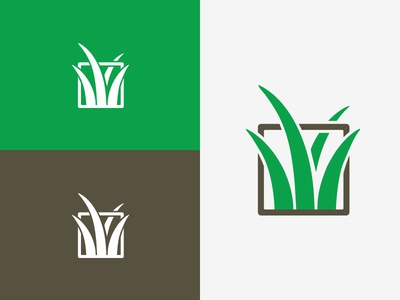 Case Landscaping outdoors grass landscaping design branding mark icon logo
