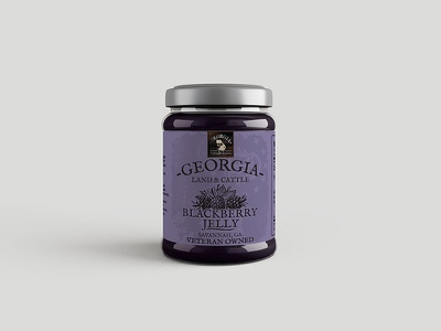 Blackberry Jelly Label jar packaging illustration brand badge blackberry georgia label jelly