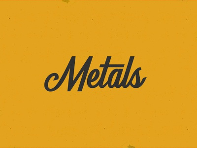 Metals logo lettering type smithing metal script brand