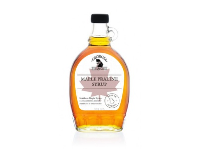 Syrup maple label syrup