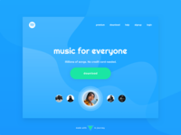 Spotify Landing Page [concept] - Daily UI 003