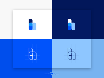 """h"" Word Logo typography set tone of voice branding h blue h logo logo"