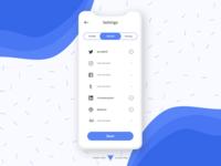 Mobile App Settings - Light