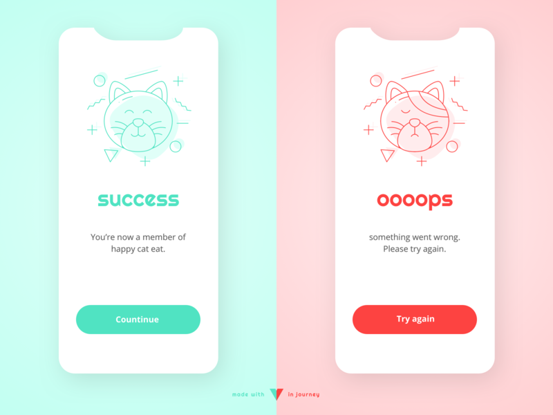 Flash Message - Error/Success branding typography app ui illustration mobile app pattern daily ui 11 daily ui 011 daily ui success message error message success error
