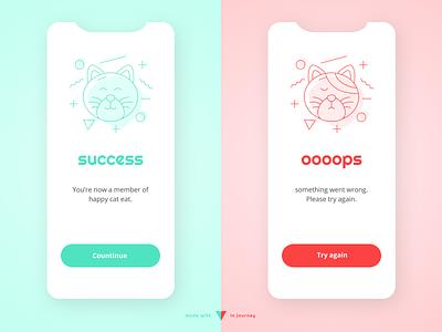 Flash Message - Error/Success branding typography app ui illustration mobile app pattern daily ui 11 daily ui 011 daily ui success message error message success error