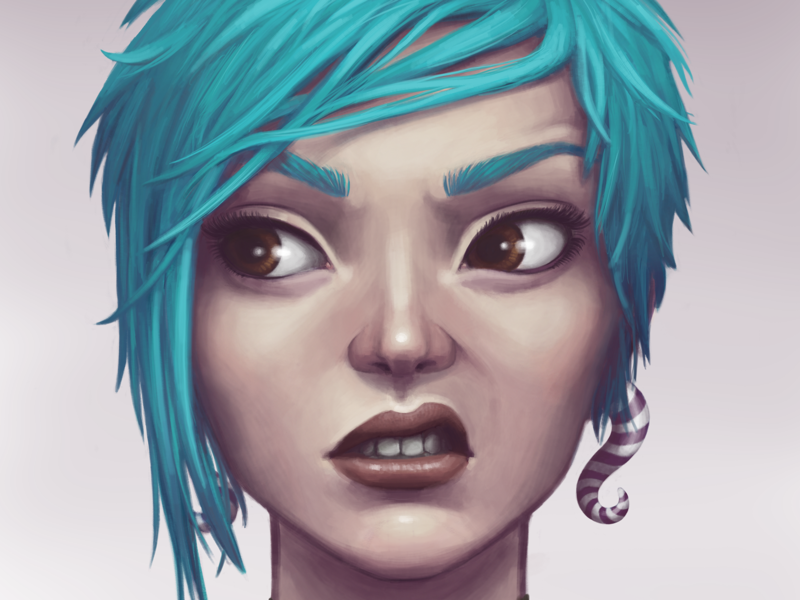 Sneer Girl ipad illustration autodesk woman procreateclub procreate portrait