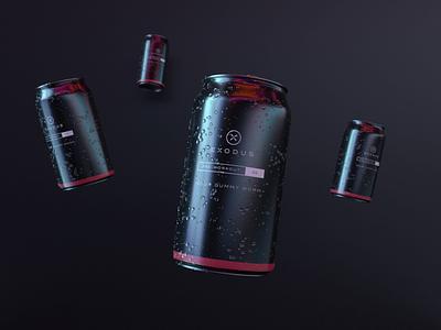 Exodus Cans package design adobe dimension 3d packaging label design supplements supplement work out out work minimal bold brand branding logo design