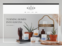 Haven Candle Co. | Website site design site divi theme divi wordpress press word haven candles candle website design web design web