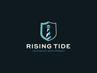 Rising Tide Leadership Development | Brand Identity consultant leadership leader shield light house light brand design logo design brand branding logo design