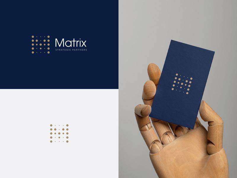 Matrix Strategic Partners | Brand Identity win coaching strategy classic legacy dots dot m scoreboard board score sports sport minimal bold logo design brand branding logo design