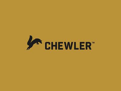 CHEWLER | BRAND IDENTITY dual adventure outdoors outdoor koozie cool cooler hunting hunt arctic fox minimal bold simple logo design brand branding logo design