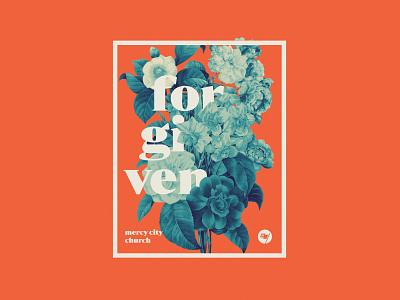 Forgiven | Shirt Design vintage type typography flower floral apparel shirt tee tshirt design
