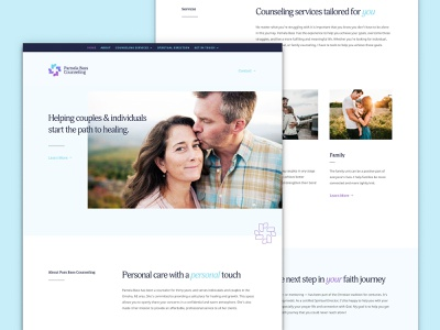 Pam Bass Counseling | Website business small marriage couple family counseling health care health minimal simple clean wordpress press word divi website web design