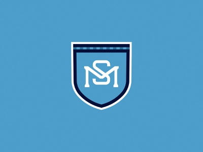 SM Monogram Shield pattern sports sport clean shield health medical soccer monogram m s minimal bold simple logo design brand branding logo design