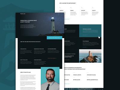 Rising Tide Leadership | Website Design site tide lighthouse house light leader leadership coaching coach wordpress divi layout website web minimal bold simple design