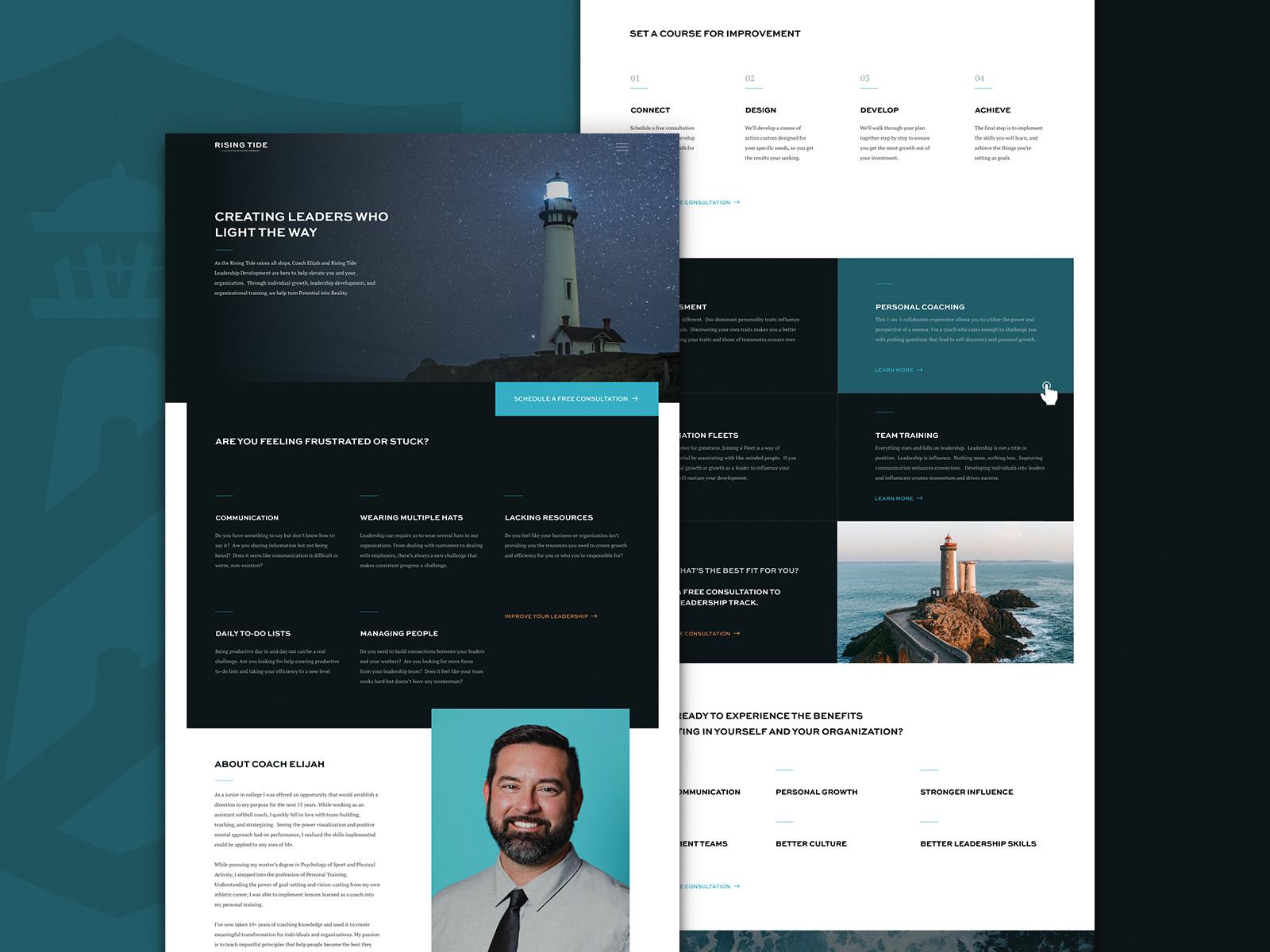 Rising Tide Leadership   Website Design