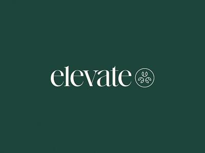 Elevate 🌿⬆️  | Unused Concept serif modern elegant geometric arrow up medicine therapy pain medical life new elevate logo design simple brand branding logo design