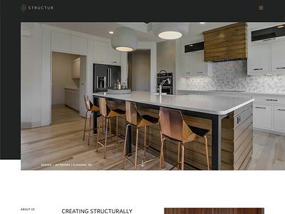 Structur Design + Interiors   Web Design architecture modern class high luxury home website concept divi wordpress drafting interior website web design