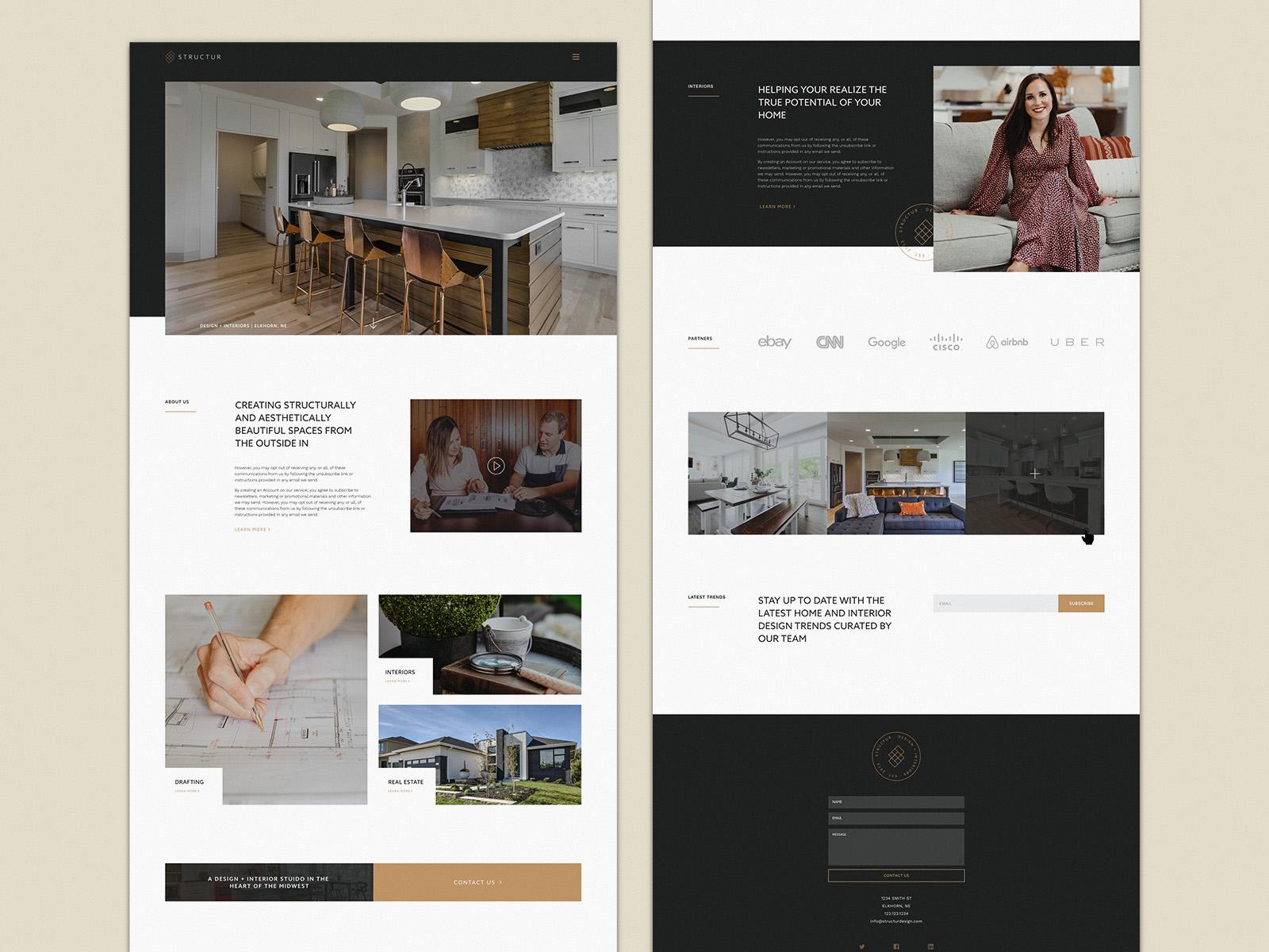 Structur Design + Interiors | Web Design