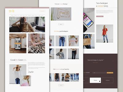 The Good Life Boutique | Website Design trendy style fashion web design website web press word wordpress divi theme divi elegant minimal branding design