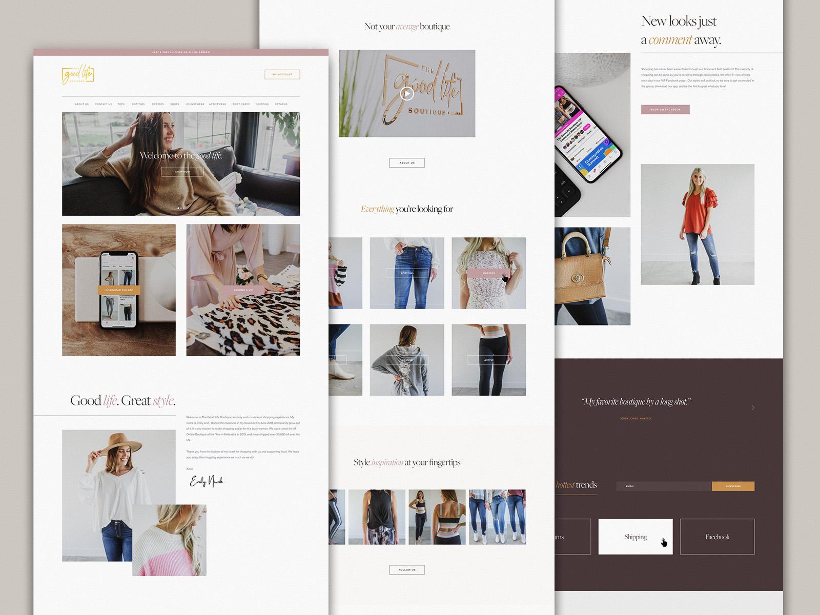 The Good Life Boutique | Website Design