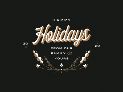 Happy Holidays up lock lockup type gold new years years new christmas print card holiday graphic design graphic design