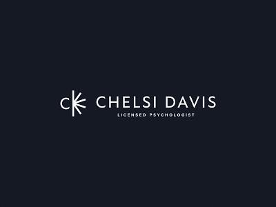 Chelsi Davis | Brand Identity psychology psychologist therapist therapy mental health mental wellness health d c vintage bold minimal logo design simple brand branding logo design